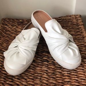 A new day white bow front slip on shoes